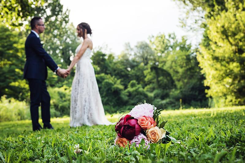 Davide Posenato fotografo matrimonio torino laura giorgio i giardini del meisino esterno